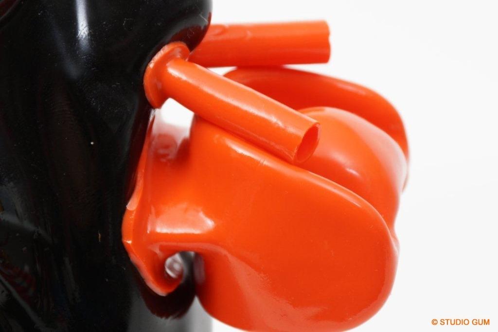 1mm rubber mask breath paly kigurumi - 3 7